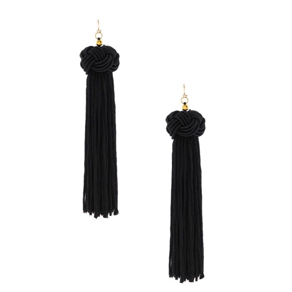 Luxe Jewelry - NOW AVAILABLE! Luxe black tassel earrings